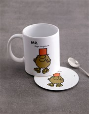Personalised Mister Silly Mug And Coaster