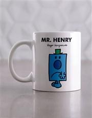 Personalised Mister Grumpy Mug And Coaster