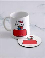 Personalised Hello Kitty Mug And Coaster