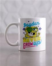 Personalised Grow Up SpongeBob Mug And Coaster