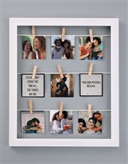 Personalised Dont Forget Me Peg Frame