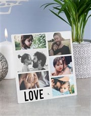 Personalised Love Photo Upload Glass Tile