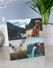 Personalised Date Photo Glass Tile