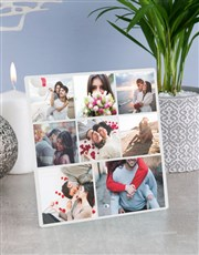 Personalised Eight Photo Glass Tile