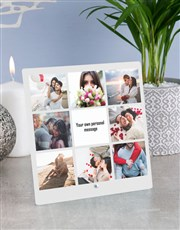 Personalised Message Photo Upload Glass Tile