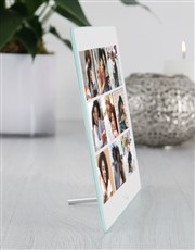 Personalised Nine Photo Upload Glass Tile
