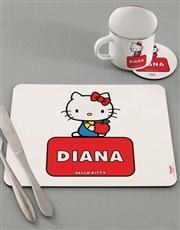 Personalised Hello Kitty Dinner Set