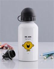 Personalised Mr Happy Water Bottle