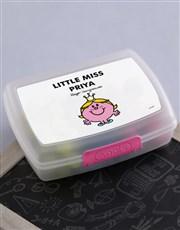 Personalised Miss Princess Lunchbox