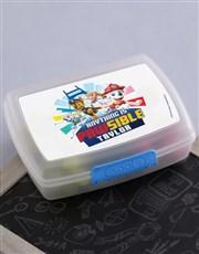 Personalised Paw Patrol Lunchbox