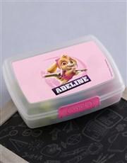 Personalised Paw Patrol Skye Lunchbox