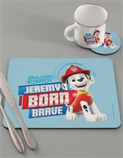 Personalised Born Brave Dinner Set