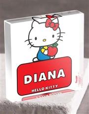 Personalised Hello Kitty Acrylic Block