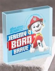 Personalised Born Brave Acrylic Block