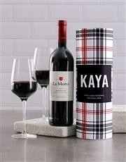 Personalised Tartan Wine Tube