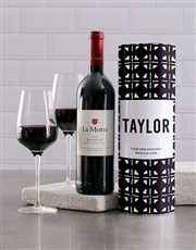 Personalised Afro Chic Wine Tube
