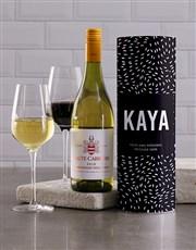 Personalised Starry Night Wine Tube
