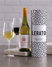 Personalised Geometric Wine Tube