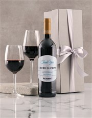 Personalised Silver Backsberg Thanks Giftbox
