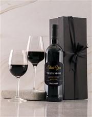 Personalised Black Backsberg Thanks Giftbox