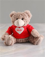 Personalised Heart Hugs Teddy And Lindt Hamper