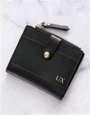 Personalised Black Short Purse
