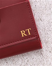 Personalised Burgandy Short Purse