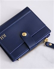 Personalised Navy Short Purse