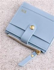 Personalised Short Blue Purse