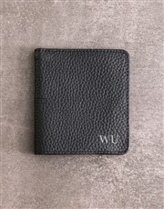 Personalised Black Folded Wallet