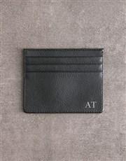 Personalised Black Card Holder