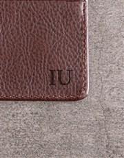 Personalised Brown Card Holder