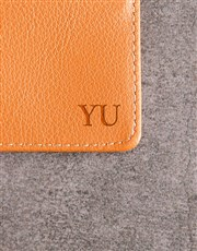 Personalised Tan Card Holder