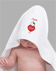 Personalised Hello Kitty Hooded Towel
