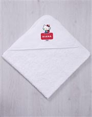 Personalised Kitty Hooded Towel