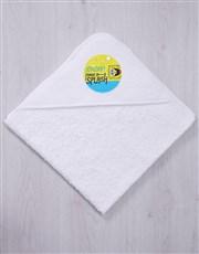 Personalised Make A Splash Hooded Towel