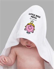 Personalised Little Miss Princess Hoodie Towel