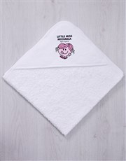 Personalised Little Miss Hug Hooded Towel