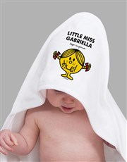 Personalised Little Miss Sunshine Hooded Towel