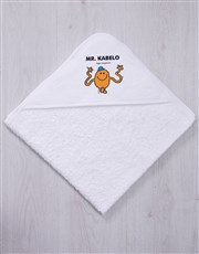 Personalised Mister Tickle Hooded Towel