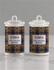 Personalised Batik Candle Jar