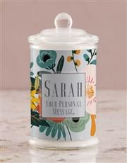 Personalised Summer Flowers Candle Jar