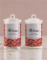 Personalised Vibrant Ogee Candle Jar