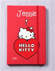 Personalised Heart Red Notebook