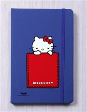 Personalised Kitty Initial Blue Notebook