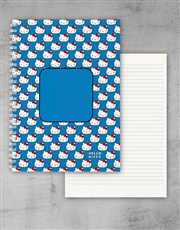Personalised Blue Hello Kitty Notebook