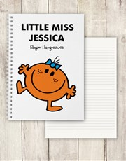 Personalised Little Miss Fun Notebook