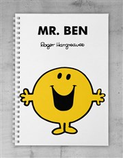 Personalised Mr Happy Notebook