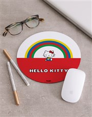 Personalised Rainbow Hello Kitty Mousepad