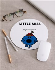 Personalised Little Miss Blue Mousepad